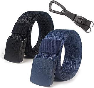 Lalacolorful 2 Pack Cinturón de Nylon Cinturón de Cinturón Táctico para Hombre Cinturón de Cinturón de Cinturón de Cinturó...