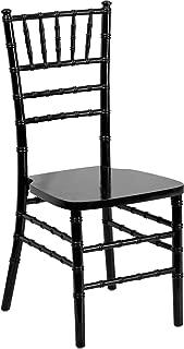 Offex Flash Elegance Supreme Black Wood Chiavari Chair