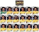 CAGO Pegatinas coleccionables de Panini del Mundial 2018, paquete de equipo de Brasil (pegatinas 352-371)