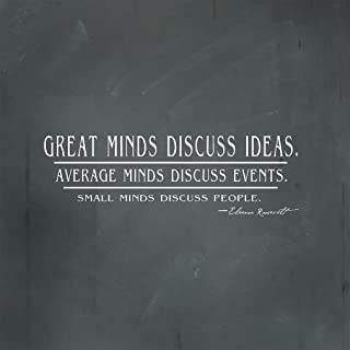 Fastasticdeals Great Minds Discuss Ideas Average Minds Discuss Events Square Metal Sign Charcoal Background White Lettering