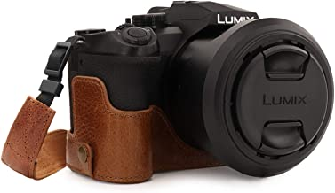 MegaGear Ever Ready Genuine Leather Camera Half Case Compatible with Leica V-Lux 5, Panasonic Lumix DC-FZ1000 II