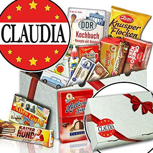 Claudia + Süßigkeiten Set DDR + Claudia Geschenk Namenstag