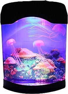 NHSUNRAY Aquarium Jellyfish Creative Simulation Decoration Brillante Artificial Colorido Relajante Mood Night Lamp Aplicar a Sala de exposiciones Habitaciones de Hotel
