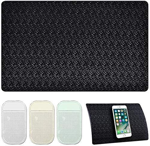 Alfombrillas de soporte para teléfono a la moda, 4 almohadillas adhesivas antideslizantes para coche, 2 tamaños resistentes al calor, antideslizantes, reutilizables después de lavar el polvo, Ban Yi