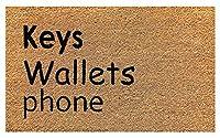 Onlymat Brown Black Coir Doormat 75 cm x 45 for, Bedroom, Entrance, Kitchen, Home, Main Door, Office, Bed room, Floor with Hard, Eco Friendly