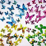 UNEEDE 72 Pz Farfalla Adesivi Murali 3D FAI DA TE Art Decor Artigianato Luminoso Murale Sticker per Bambini Nursery Camera Da Letto Soggiorno Partito e Decorazione di Compleanno