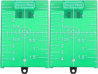 OUNONA 2個用スタンドと磁気床ターゲットプレートボードグリーンラインレベルターゲットグリーンビームアプリケーショングリーン