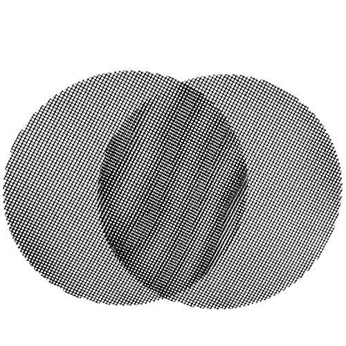 ZILONG 2 Stück Grillmatte Rund, Agreenway Backmatte Antihaftbeschichtet, als Backpapier Ersatz verwendbar - Genehmigt von der FDA, LFGB und SGS (40 * 40 cm)
