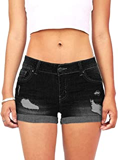Women Denim Shorts On Sale Clearance ! Cuekondy Summer Casual Low Waist Mini Short Jeans Pants Sexy Hot Pants