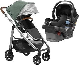 UPPAbaby Full-Size Cruz Infant Baby Stroller & MESA Car Seat Bundle, Emmett/Jake