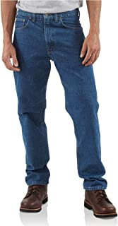 Carhartt Men's B18 Denim Straight Fit Jean - 33X30 - Darkstone