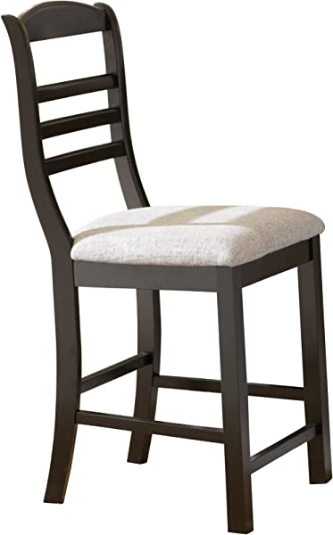 Steve Silver Company Bradford Counter Chair Black 18 W X 22 D X 42 H