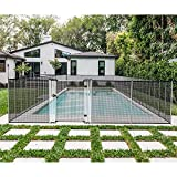 Coarbor Removable Safety Pool Fence for Inground Pools Outdoor Flexible Mesh Fence Barrier Security Fencing with Poles for Backyard Garden Porch Chicken Dog Fence 4'Hx16'L