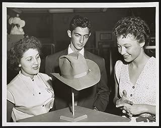 1952 Photo Kitty Maldonado, Robert Tomei and Sandy Kupchik examine Theodore Roosvelt's Rough Rider hat] / World Telegram & Sun photo by Herman Hiller.