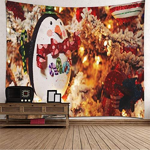 Dreamdge Tapiz de Pared Naturaleza Pingüino de Decoración Navideña, Tapiz de Navidad 300x260
