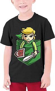 guoweiweiB Camisetas de Manga Corta para niño, The Legend of Zelda Teenage Round Neck T-Shirt for Girls Boys