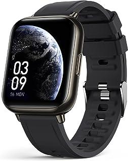 AGPTEK Smartwatch voor heren en dames, 1,69 inch, sportsmartwatch, Bluetooth 5.0, met hartslagmeter, stappenteller, zuurst...