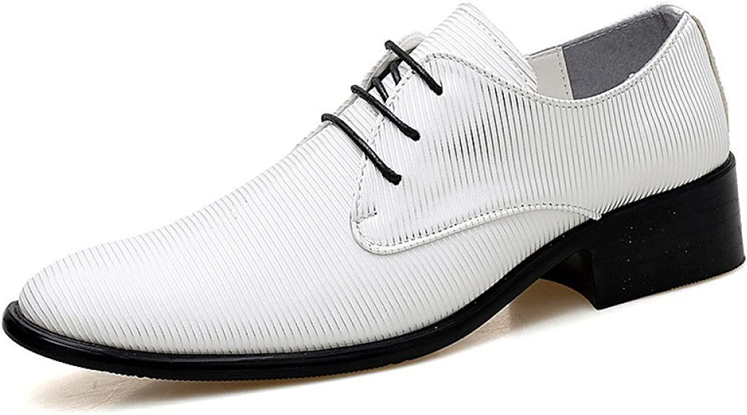 ZLLNSPX Men's Casual Business shoes Pointed Leather shoes Lace-up Fashion