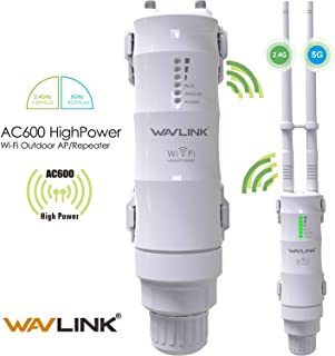 WAVLINK Dual Band 2.4+5G 600Mbps Outdoor PoE Access Point, WN570HA1 3 in 1 Wireless AP (CPE)/ Exterior Router/WiFi Repeater Range Extender Internet Amplifier Network Signal Booster in 2 Antennas