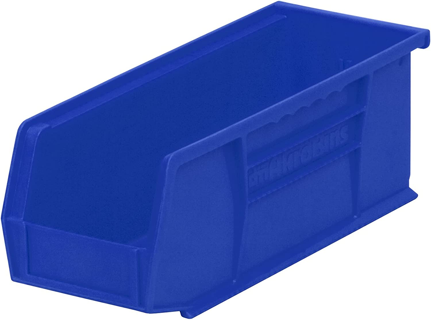 Akro-Mils 30224 Plastic Storage Stacking Hanging Akro Bin, 11-Inch by 4-Inch by 4-Inch, bluee, Case of 12