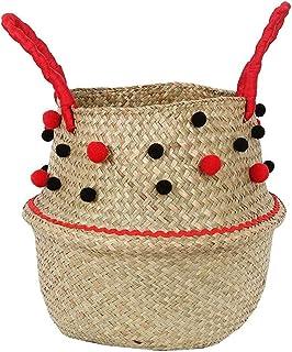 Panier en Osier en jonc de mer Pot de Fleur Suspendu en rotin Panier de Rangement pour Panier à Linge Sale (Taille : X-Lar...