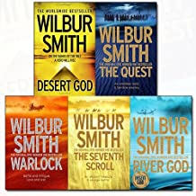 Wilbur Smith Egyptian Series 5 Books Bundle Collection (Desert God, The Quest, Warlock, The Seventh Scroll, River God)