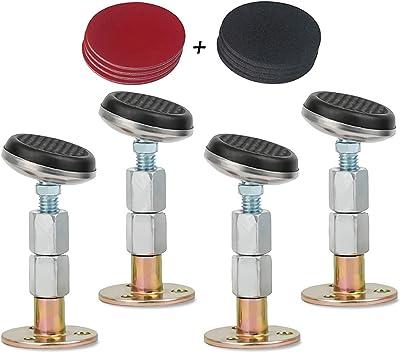 Dispositif anti-secousses pour cadre de lit - Stabilisateur réglable avec filetage, anti-secousse, support de lit et canapé (L about (65-92 mm)