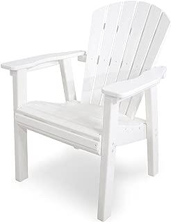 POLYWOOD SHD19WH Seashell Casual Chair, White