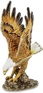 Bejeweled MAJESTIC Gliding Bald Eagle Trinket Box Luxury Gifts