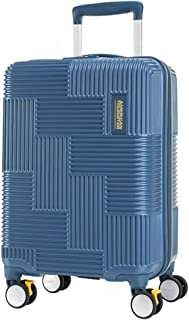 American Tourister Velton Hard Side Spinner Luggage, Navy, 55 Centimeters