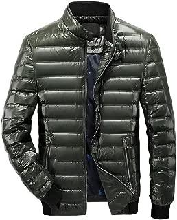 Wxian Men's Stand Collar Two Zipper Pocket Down Jacket