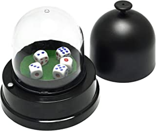 Gikfun Automatic Lucky Dice Roller Cup Set with 5 Dices for Christmas Party Games EK1883