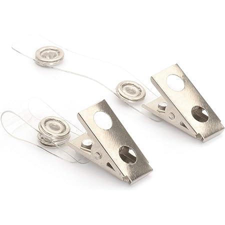 CKB Ltd 50 x Crocodile Clips Metal/Plastique for Carte ID Support De Badge Holder Strap lanière 85 x 13mm