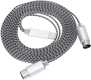 Drfeify Câble MIDI vers USB, Ligne d'édition de Musique électronique à 5 Broches Accessoires d'instruments de Musique Conv...