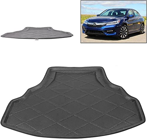 lowest Mallofusa Cargo Liner Rear Cargo Tray Trunk Floor Mat 2021 Compatible for Honda Accord 8 2008 2009 2010 2011 2012 online Black sale