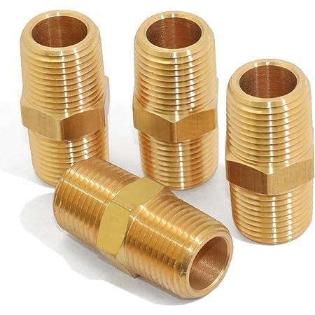 3//8-1//4 3//8-1//8 1//2-1//4 Gasher 12PCS Brass Hex Bushing Fitting Kit Hex Bushing 1//4-1//8 3//4-1//2 1//2-3//8