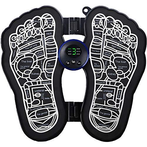 Elektrischer Faltbare FußMassager, EMS Füße Massage für Circulation-Boost-Muskel-Schmerz-Entlastung, Falten tragbare Massage Fußmatte USB aufladbare