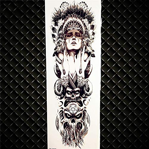 Tatuaje Temporal,Calcomanías para El Cuerpo De Transferencia 3 Hojas Brazo Largo Largo Sexy Mujer Llorando Relojes Tatuaje para Mujeres Hombres Cintura Pierna Cintura Cuello Glúteos Tatuaje Imperme