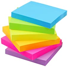 Early Buy Sticky Notes 6 Bright Color 6 Pads Self-Stick Notes 3 in x 3 in, 100 Sheets/Pad
