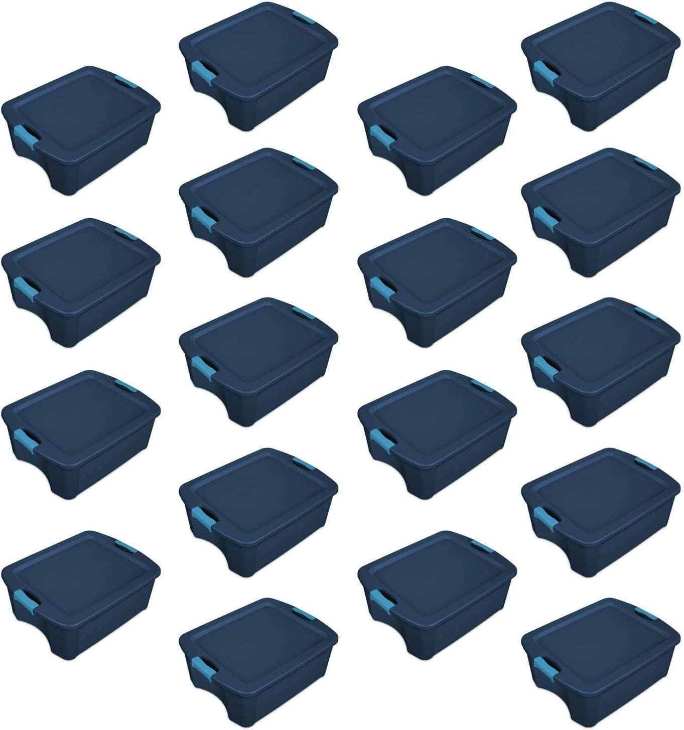 Sterilite 12 Gallon Latch and Carry Max 53% OFF True Factory outlet Blue 14 Tote Storage
