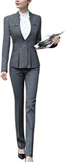 YUNCLOS Women's Elegant Business Two Piece Office Lady...
