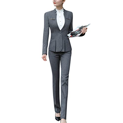 Summer Formal Ladies Pant Suits Women Business Suit Blue Blazer And Jacket Set Work Wear Office Clothes Pantsuits To Ensure A Like-New Appearance Indefinably Back To Search Resultswomen's Clothing