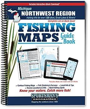 Spiral-bound Northwest Michigan Fishing Map Guide Book