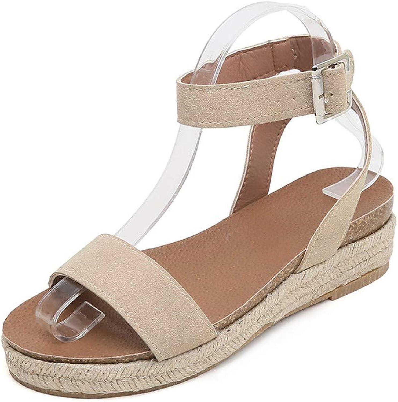 NURJOR Women's Platform Wedge Sandal
