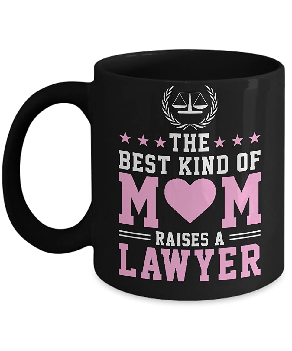Lawyer Mug - The Best Kind of Mom Raises A Lawyer Funny Quotes - Coffee Cup Gift 11 Oz - Inspirational & Sarcasm