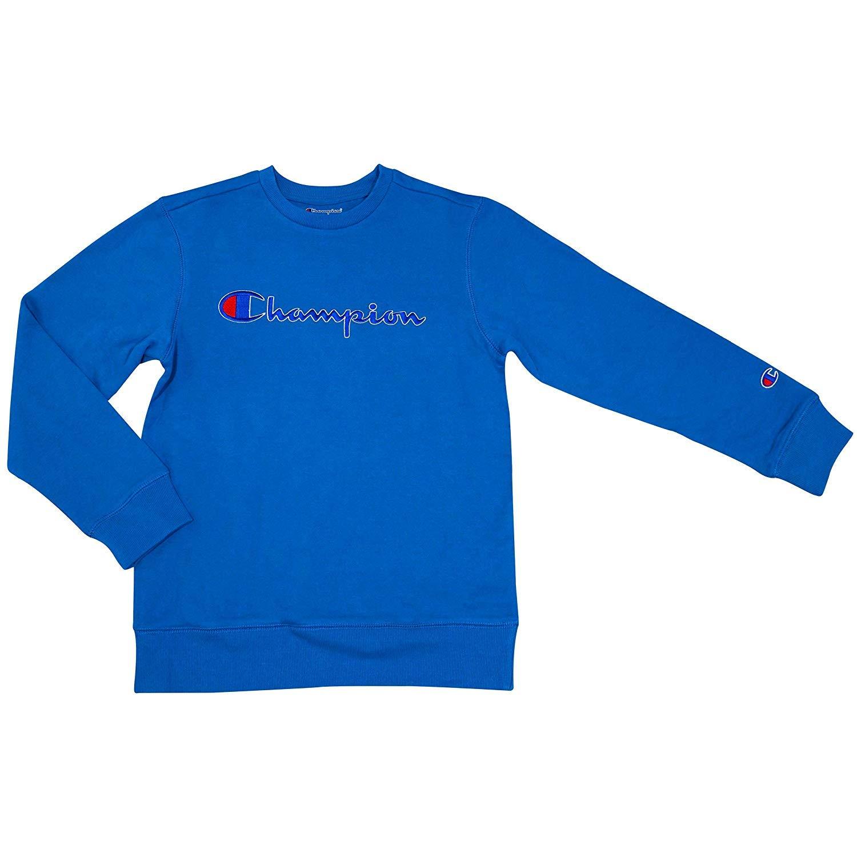 チャンピオンニュートラル子供用フリーススクリプトタートルネックスウェットシャツ