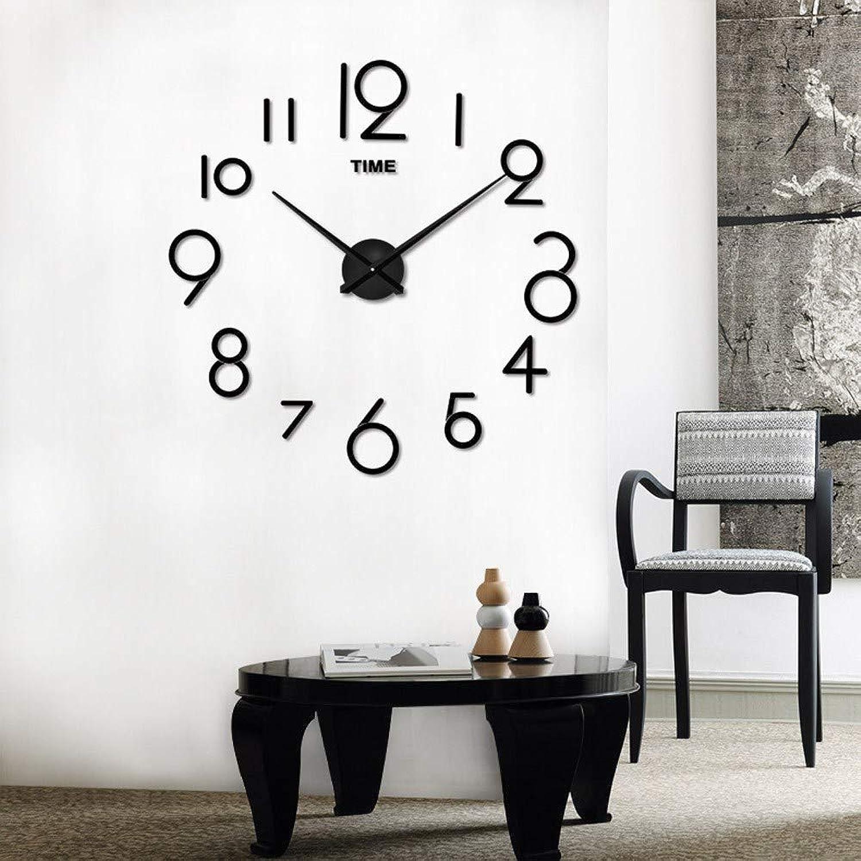タブレット松の木大胆不敵掛け時計 HEAVEN&時計 24時間マナーモード連続秒針 会社学校室内 DIY 壁掛け時計 壁貼り付け 大きいローマ数字 見やすい wake up デジタル 3D数字とけ