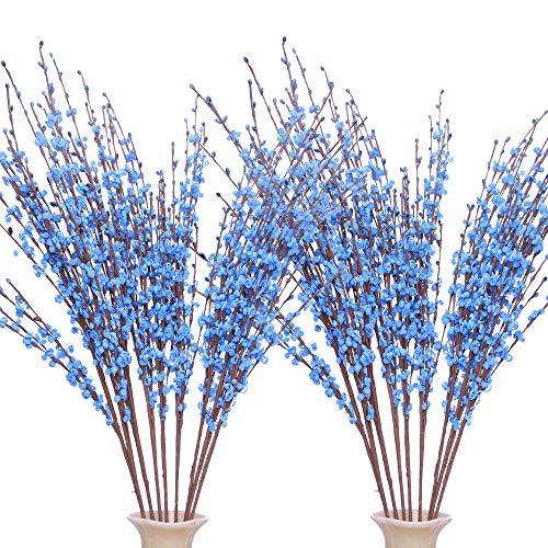Famibay 20 Piezas Flores Artificiales Blancas Ramo de Flores Boda Flores Artificiales Decoracion Casa Jarrones Bodas
