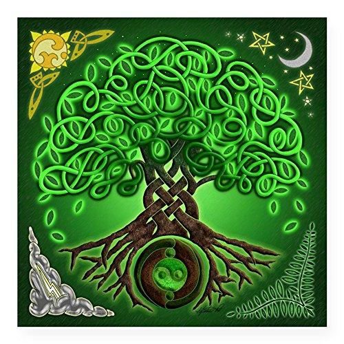 CafePress Circle Celtic Tree of Life Square Sticker 3 X 3 Square Bumper Sticker Car Decal, 3