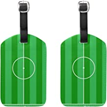 Luggage Tags Football Ground Vector Womens Baggage Tag Holder Airplane Travel Accessories Set of 2